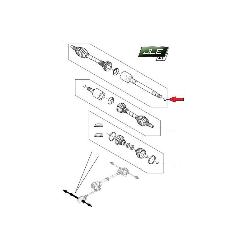 Arbre de transmission avant droit Discovery 5 Range Rover