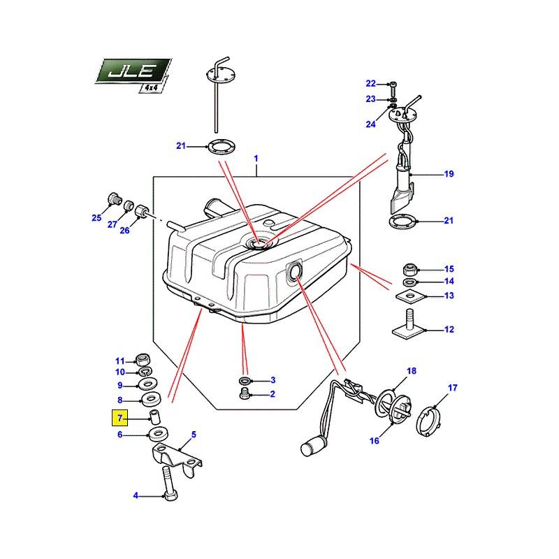 Entretoise de montage réservoir carburant Defender 110/130