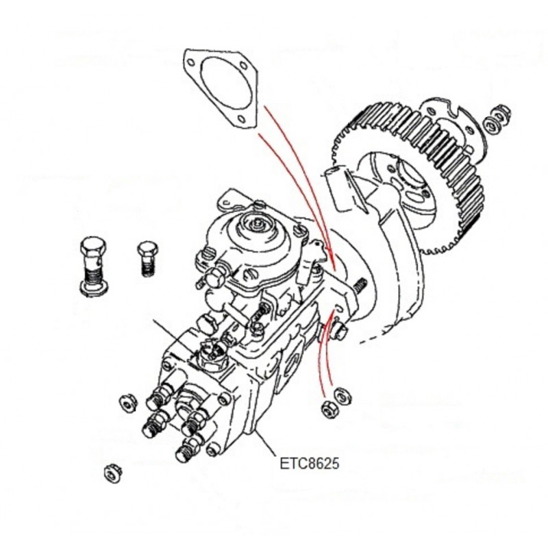 Pompe d'injection de carburant Discovery 1 Range Rover