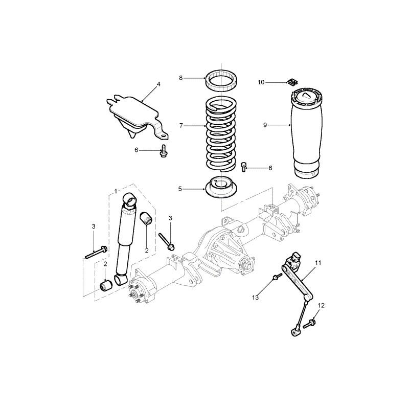 Capteur de hauteur suspension pneumatique arrière