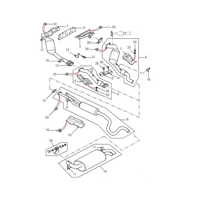 Sonde lambda oxygène OEM Freelander 1 Range Rover P38