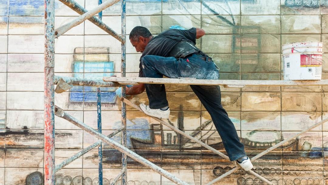 Instalando los mosaicos