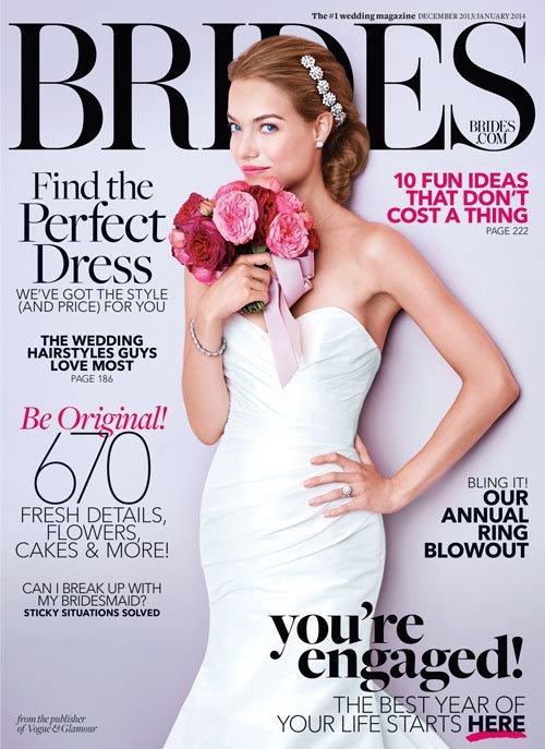 BRIDES Magazine Cover For Blush JLM Couture