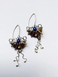 Egyptian Scarab Earrings | JL Merrill Metalworks