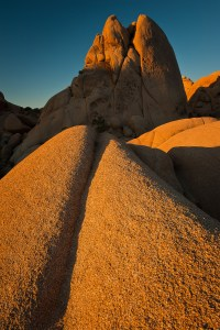 Sunrise over Temple Rock in Joshua Tree National Park, California. www.JLongPhoto.com