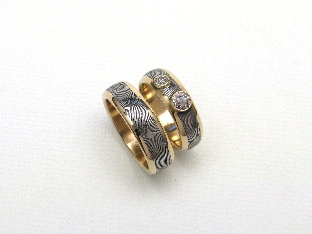 JArthur Loose Damascus Rings Blades Amp Jewelry
