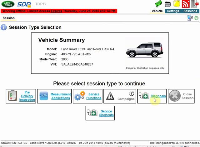 Discovery 4 L319 2009 - 2016 Land Rover Symptom Driven Diagnostics SDD JLR Diy Kit