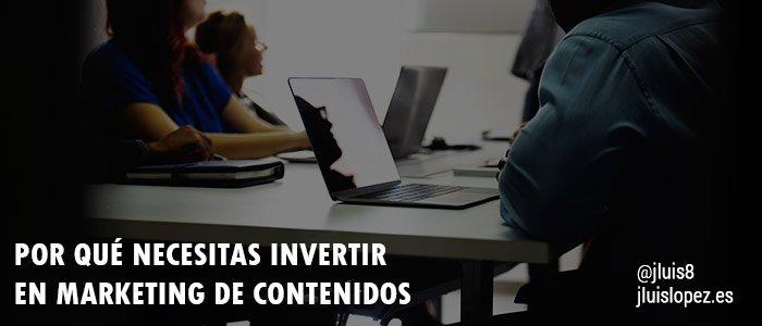 invertir marketing contenidos