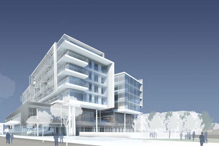Richard Meier ha disegnato il complesso residenziale