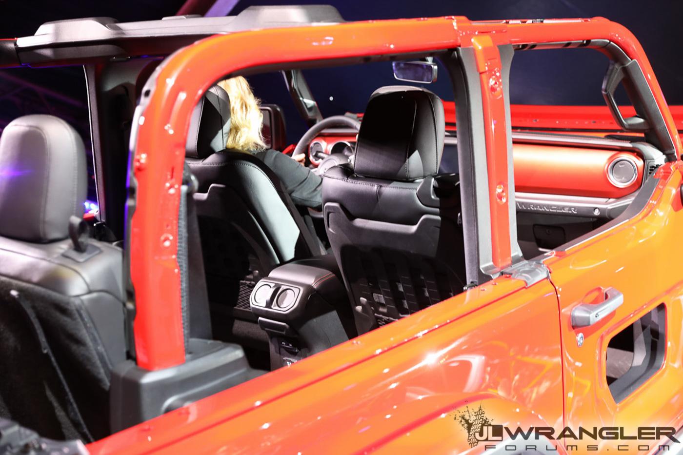 LA Auto Show Firecracker Red JL Wrangler Rubicon with