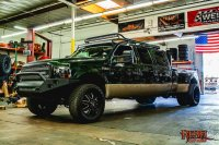 In the shop today: 6 Door F350 for custom roof rack
