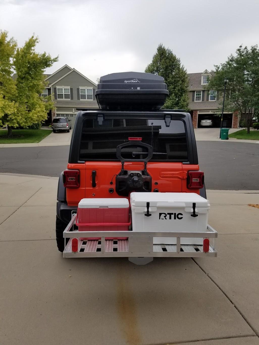 trailer hitch cargo rack
