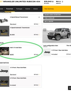 cb  cf eeg also jl  jlu wrangler axle gear ratios page rh jlwranglerforums