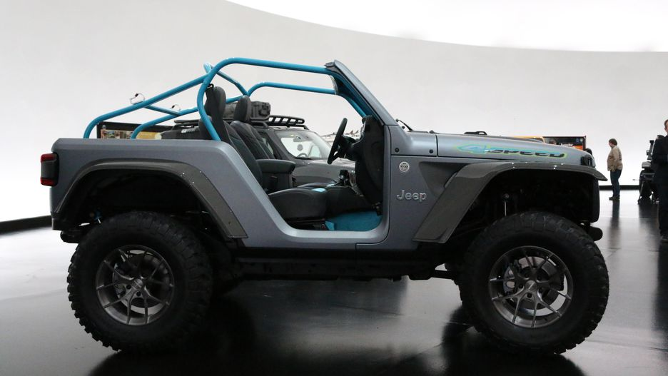 Live Pics Jeep 4SPEED Concept 2018 Jeep Wrangler