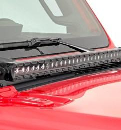 jeep led hood kit 70054 base install jpg [ 1200 x 800 Pixel ]