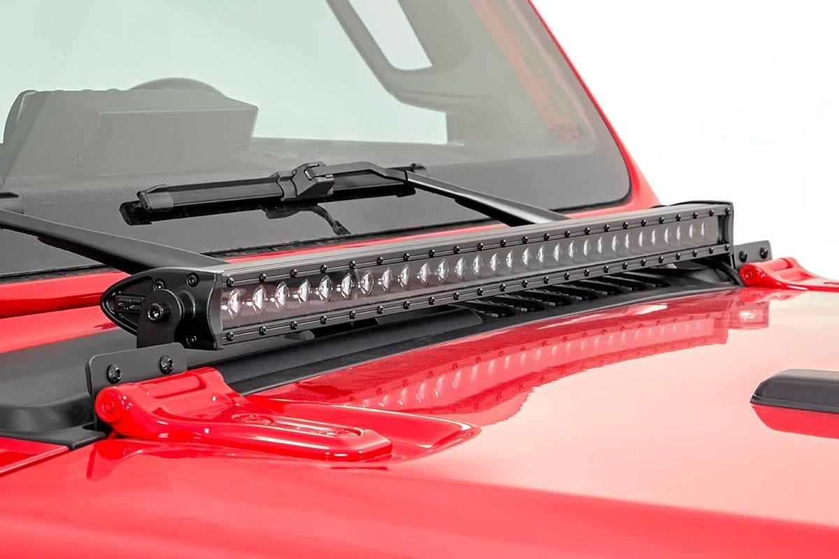 hight resolution of jeep led hood kit 70054 base install jpg