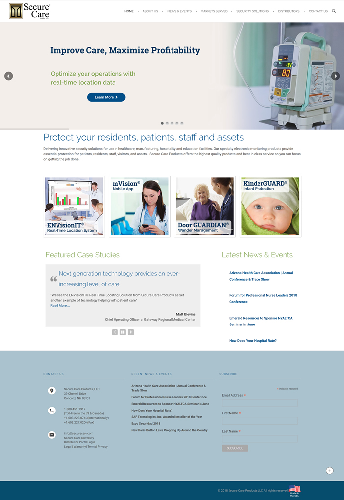 Secure Care Website