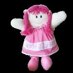 Boneca de Pano Personalizada com Nome de Vestido Rosa-jmc-cha-de-fraldas