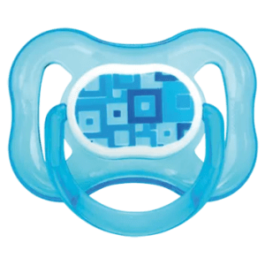 Chupeta Kuka Color Decorada Ortodôntica Silicone Azul nº 1