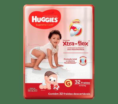 Fralda Huggies Supreme Care Mega - Tamanho G