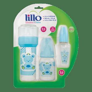 Kit Lillo Primeiros Passos Mamadeira Azul