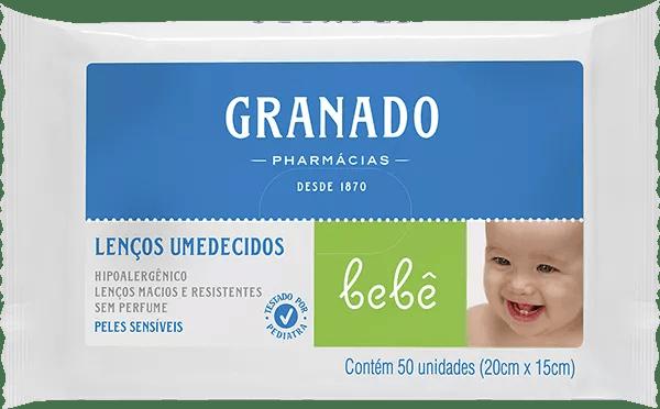Lenço Umedecido Granado Bebe Peles Sensíveis