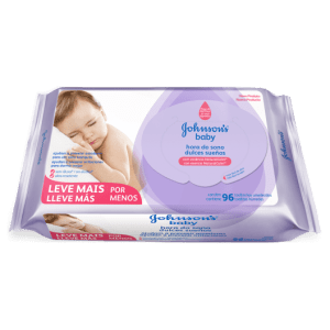 Lenço Umedecido Johnson's Baby Hora do Sono c96 unidades