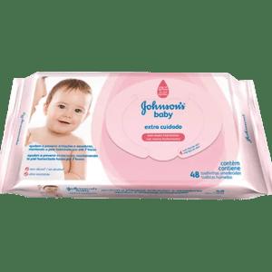 Lenço Umedecido Johnson's Baby Proteção da Pele - Embalagem c/48 unidades