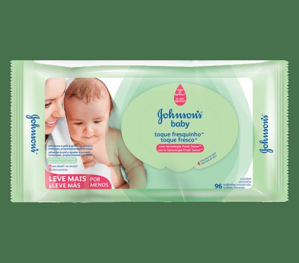 Lenço Umedecido Johnson's Baby Toque Fresquinho - Embalagem c/96 unidades