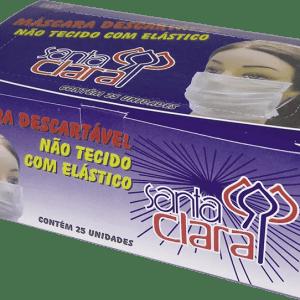 Máscara descartável com elástico Santa Clara - Embalagem c-25 unidades-jmc-cha-de-fraldas