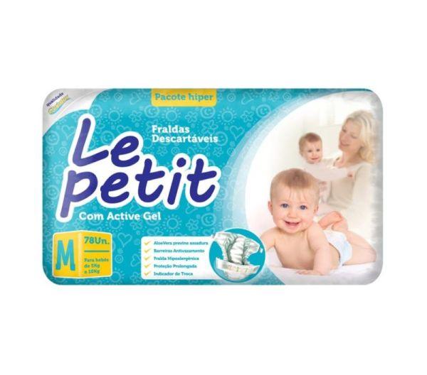 Fralda Le Petit Hiper - Tamanho M