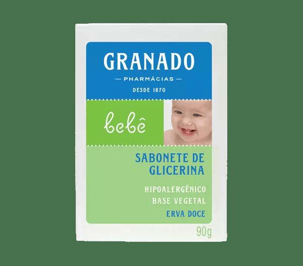Sabonete Barra Granado Bebê Glicerina Erva Doce