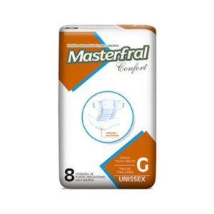 Fralda Masterfral Confort - Tamanho G - Pacote 8 unidades