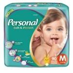 Fralda Personal Baby Hiper – Tamanho M – Pacote 90 unidades