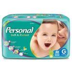 Fralda Personal Baby Mega - Tamanho G - Pacote 48 unidades