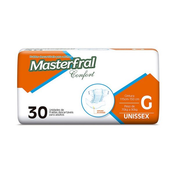 Fralda Masterfral Confort Mega - Tamanho G-jmc-fraldas-geriatrica