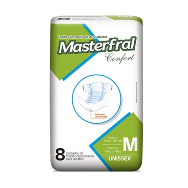 Kit com 8 Pacotes de Fraldas Masterfral – Tamanho M - JMCfraldas