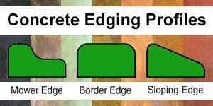 concrete landscape edging