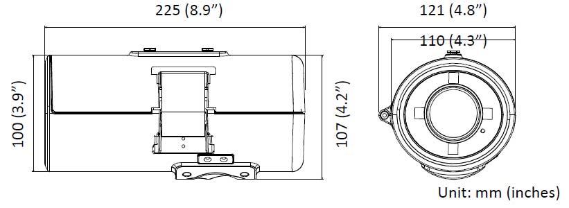 B7320 Zavio 3.0 MegaPixel Manual Zoom IP Camera with 30m
