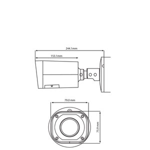 SPRO 4MP 2.7-13MM IP Varifocal Lens Smart IR Bullet Camera