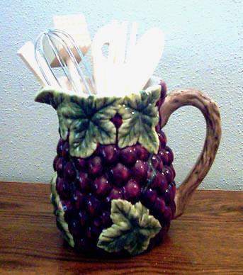Beverage Pitchers  Utensil Holders  ceramic  decorative