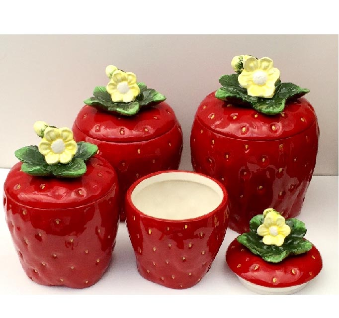 rooster canister sets kitchen undermount sinks lowes canisters   ceramic glass ...