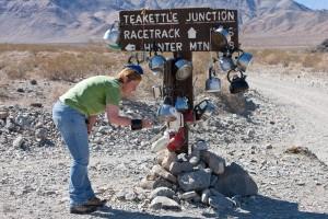 Rebecca at Tea Kettle Junction, Death Valley National Park