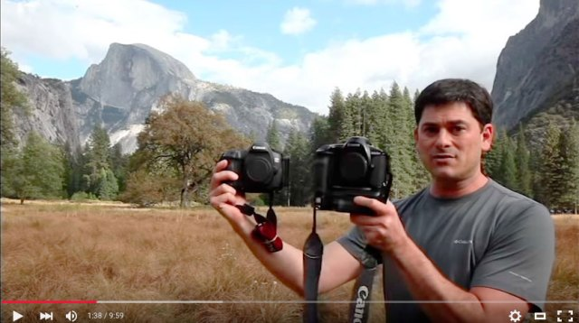 Canon DSLR comparison between the Canon D2000 and the Canon 5DS R