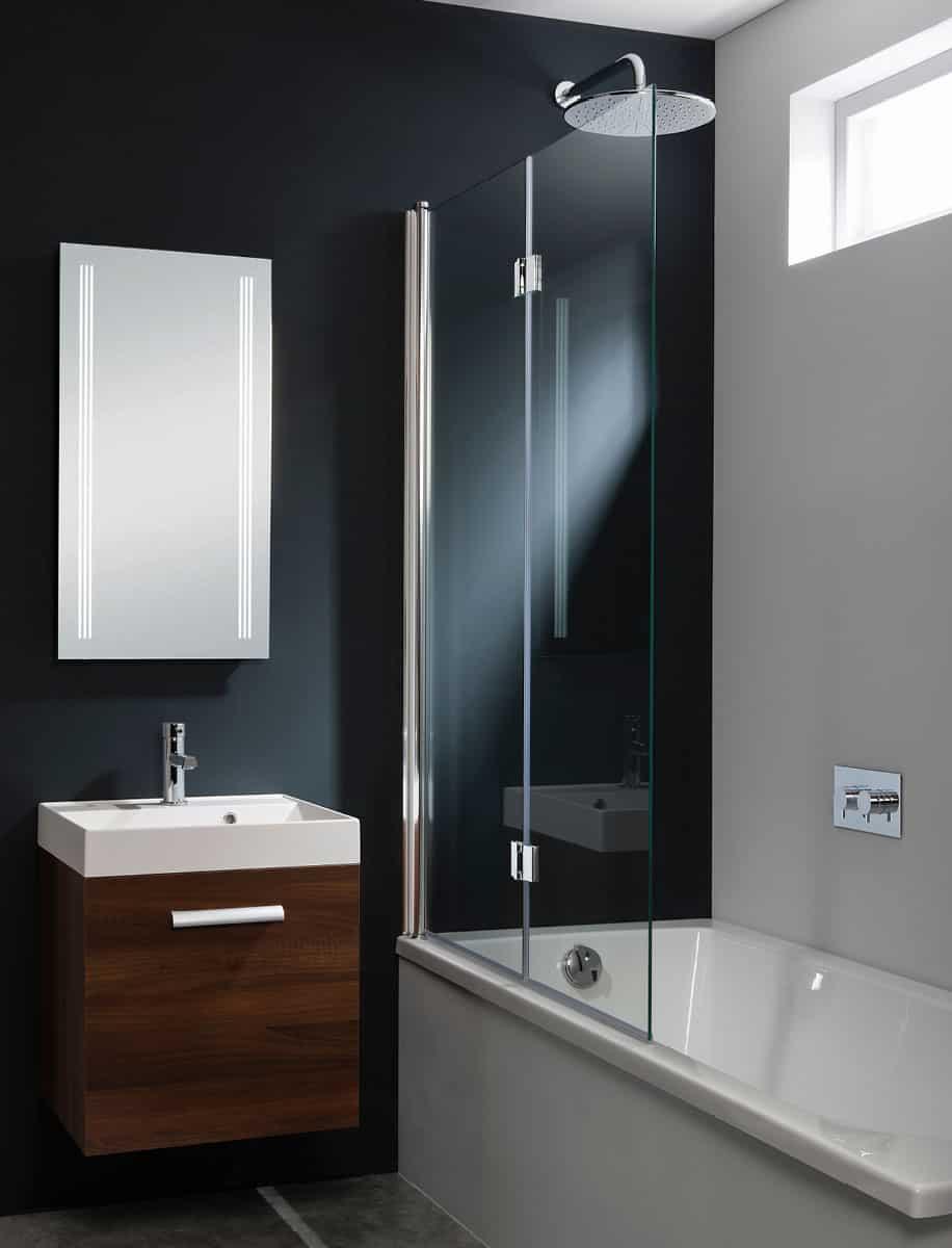 Crosswater Design Double Panel Bath Screen Dual Inward
