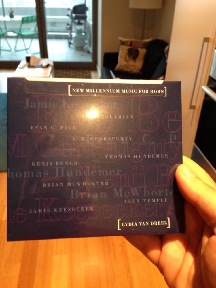 New Millennium Music for Horn, by Lydia Van Dreel