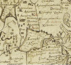 Down Survey Map Roscommon - Late 1650's