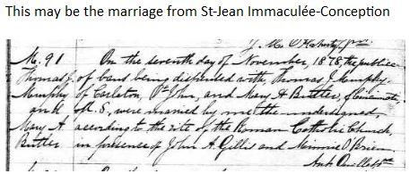 Murphy Butler Marriage St. John