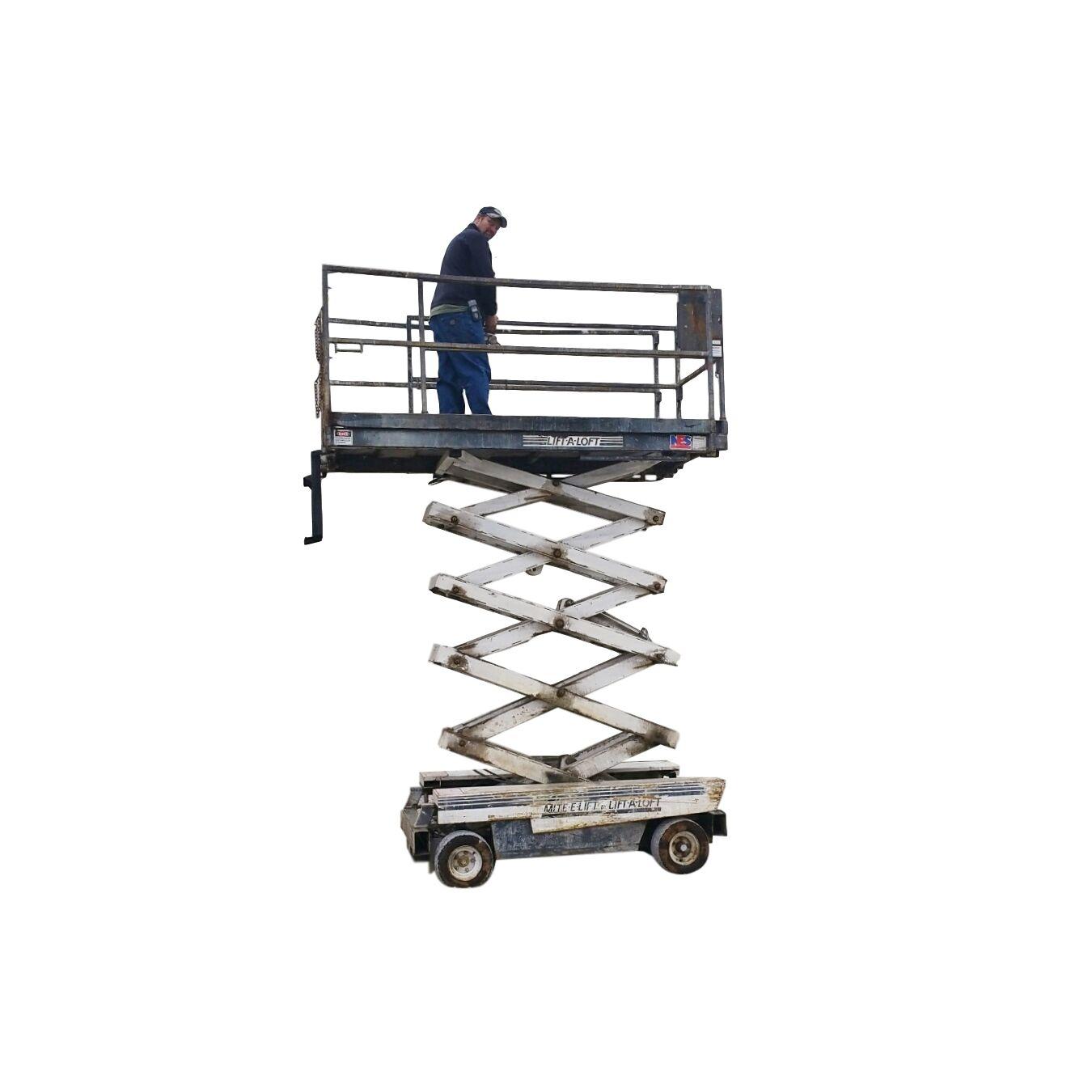 Used Lift A Loft Mite E Lift Work Platform Scissor Lift