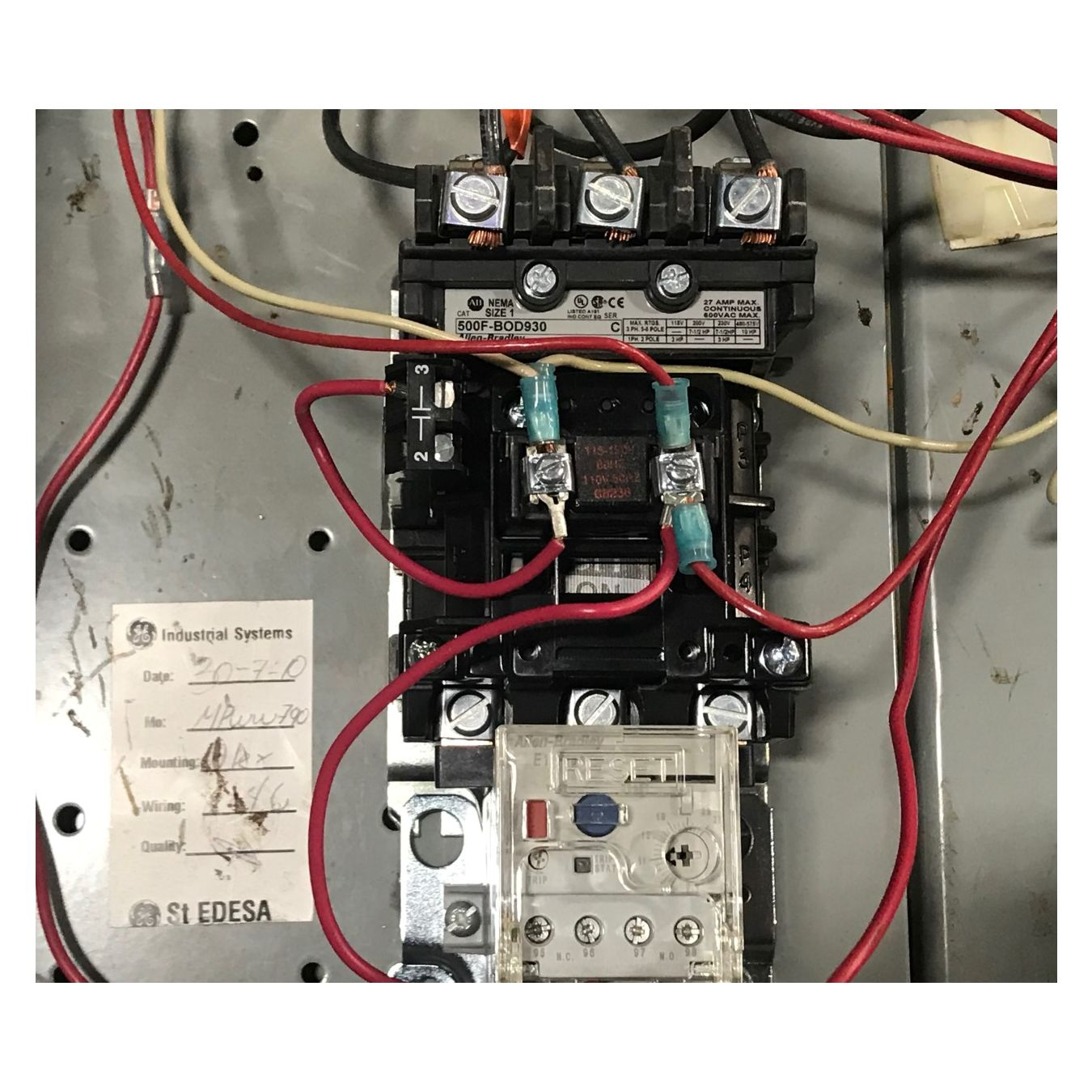 hight resolution of  used 2 size 1 motor starter fusible disconnect with circuit breakers